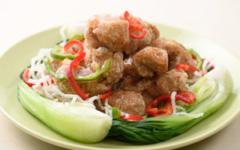 中華風☆大豆たんぱくと野菜の葛煮
