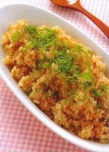 発芽玄米の梅炒飯