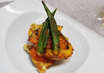 野菜のサルサ甘麹漬け焼き
