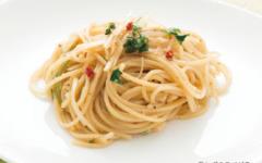 長ねぎのスパゲティ 焼き味噌ペペロンチーノ
