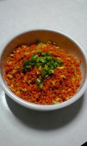 にんじんと高野豆腐のカレー風味そぼろ